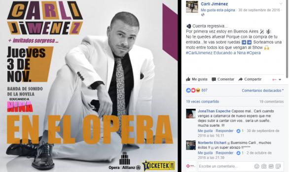Publicidad en Facebook Carli Jimenez