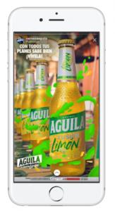Ejemplo Story Cerveza Aguilar